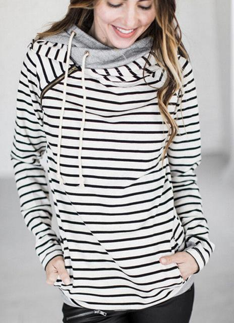 High Quality 3Xl Autumn Winter Warm Hoodies Sweatshirts Women Pullover Hoodie Female Patchwork-Hoodies & Sweatshirts-Lispstudio Store-White-S-EpicWorldStore.com
