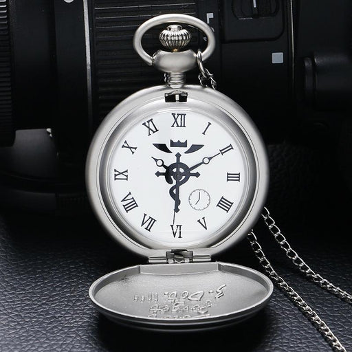 High Quality Full Metal Alchemist Dull Polish Pocket Watch Mens Quartz Watch P936-Pocket & Fob Watches-Eon Timepieces Store-1-EpicWorldStore.com