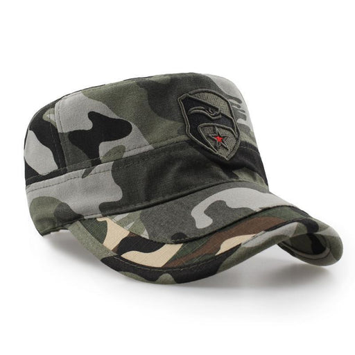 High-Quality Men Navy Seal Cap Snapback Eagle Flat Caps Camouflage Hunting Fishing For Dad-Team Sports-Shop3625013 Store-Black-EpicWorldStore.com
