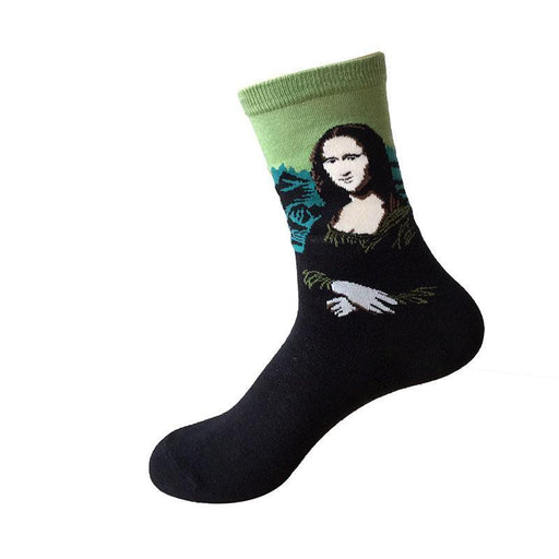 Underwear & Sleepwears Unisex Retro Art Oil Painting Men Dress Socks Fashion Happy Socks Lovers Cotton Long Socks Sokken Calcetines Skateboard Socks