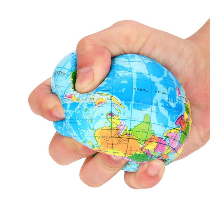 High quality stress relief world map foam ball atlas globe palm ball high quality stress relief world map foam ball atlas globe palm ball planet earth ball gumiabroncs Image collections