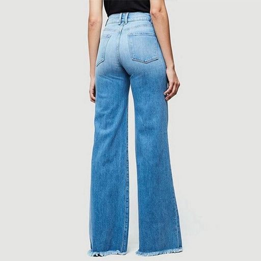 High Waist Stretch Female Flare Jeans Plus Size Denim Trousers Wide Leg Long Jeans Skinny Jeans-Jeans-Woweile Store-Black-S-EpicWorldStore.com