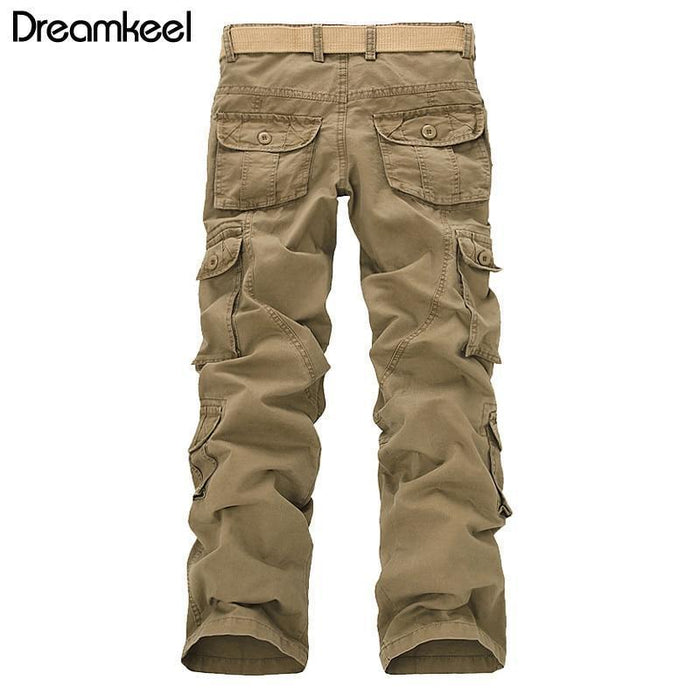 5025f2d3 Hip Hop Fashion Casual Cotton Cargo Pants Military Cargo Pants Men Loose  Baggy Tactical Trousers Men
