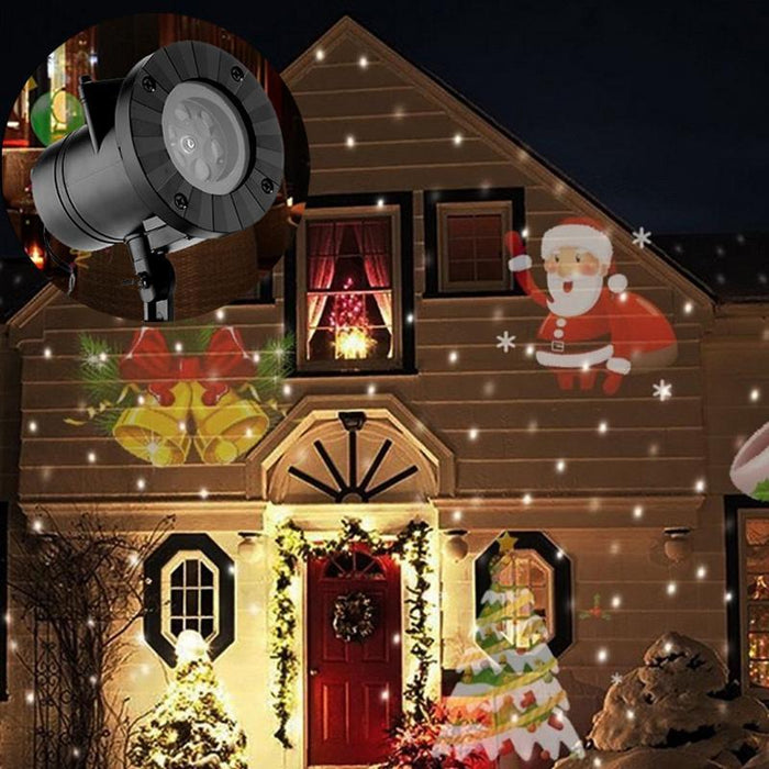 Holiday Decoration Waterproof Outdoor Led Stage Lights 12 Types Christmas Laser Snowflake