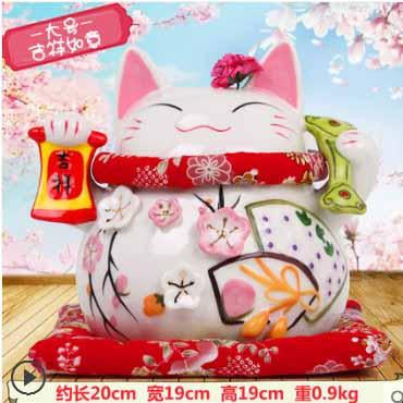 Home Lucky Cat Decoration Piggy Bank Decoration Craft Shop Open