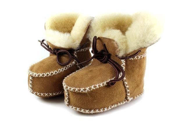 Hongteya Winter Genuine Leather Baby Shoes Boots Infants Warm Shoes Fur  Wool Girls Baby Booties- 9c59af980256