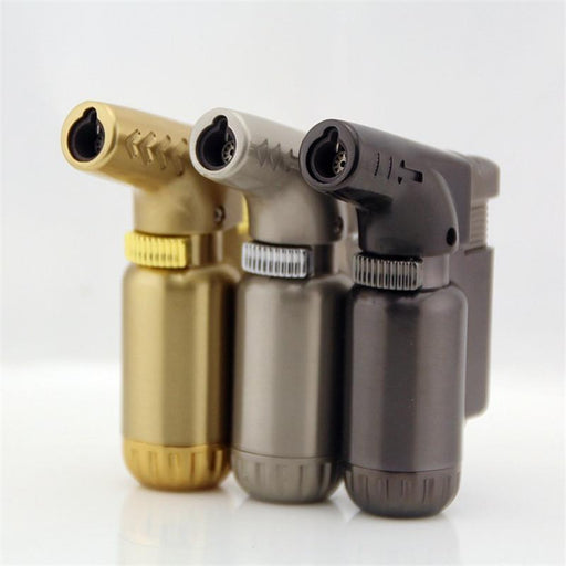 Hot Compact Butane Jet Lighter Torch Lighter Gasoline Fire Windproof Spray Gun Metal Lighter 1300-Household Merchandises-Tonron Personalized Store-Gold-EpicWorldStore.com