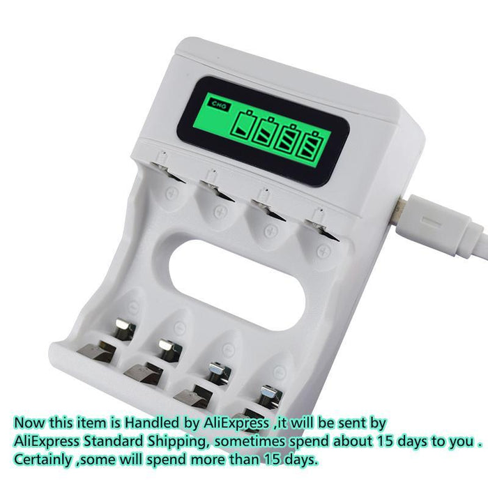 Hot ! Intelligent 4 Slots Smart Lcd Battery Charger Rechargeable Usb Charger For Aa / Aaa Nicd-Accessories & Parts-PL'Battery in Laughing Out Loud Store-EpicWorldStore.com