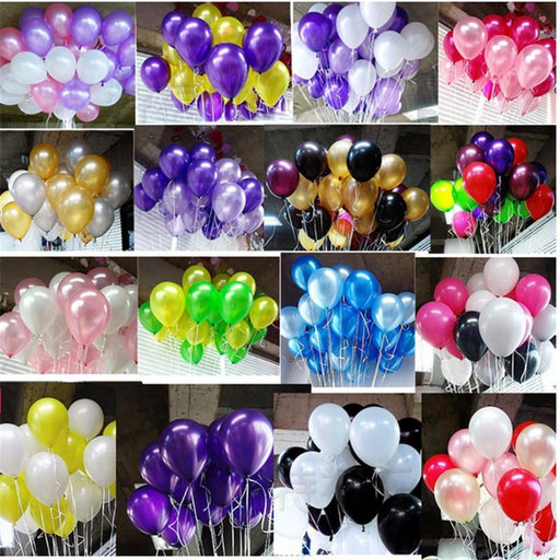 Hot Sale 100 Pcs 10 Inch 1.8G Birthday/Wedding Supply Latex Balloons Colorful Party Latex Air-Festive & Party Supplies-Ruid Store-mixed color-EpicWorldStore.com