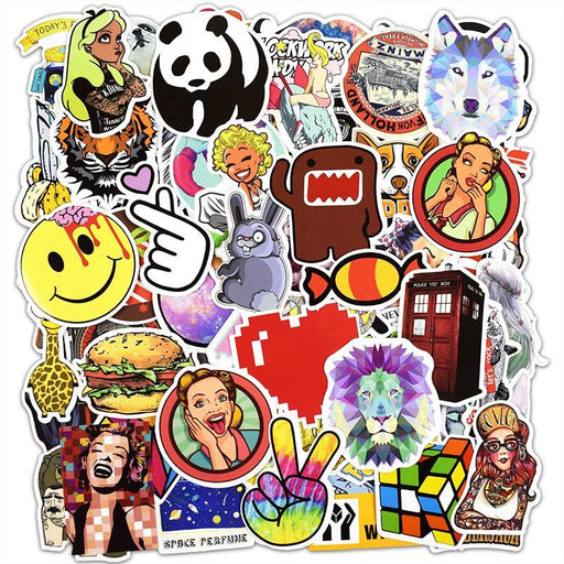 Hot Sale 100 Pcs Mixed Stickers For Luggage Laptop Decal Toys Bike Car Motorcycle Phone Snowboard-Classic Toys-Zhehong Toy Store-EpicWorldStore.com