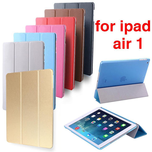 Hot Sale For Ipad Air Retina Smart Case Cover, Ultra Slim Designer Tablet Leather Cover For Apple-Tablet Accessories-Yaki-for iPad Air Pink-EpicWorldStore.com