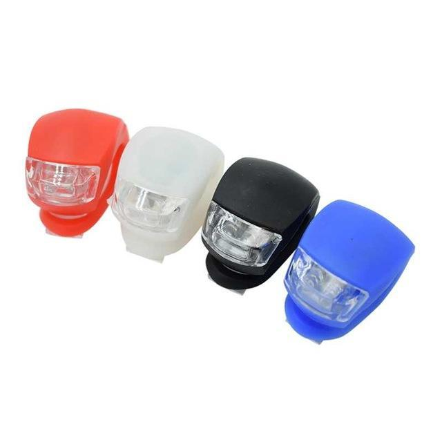 Silicone LED Light Lamp Safety Bike Bicycle Head Front Wheel Rear Wheel