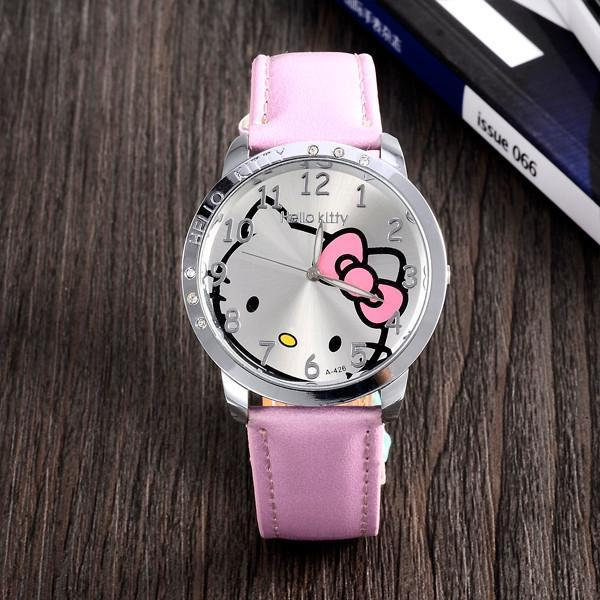 cd223ae2f Hot Sales Cute Hello Kitty Cartoon Watches Children Girls Women Crystal  Dress Quartz Wristwatch-Children's