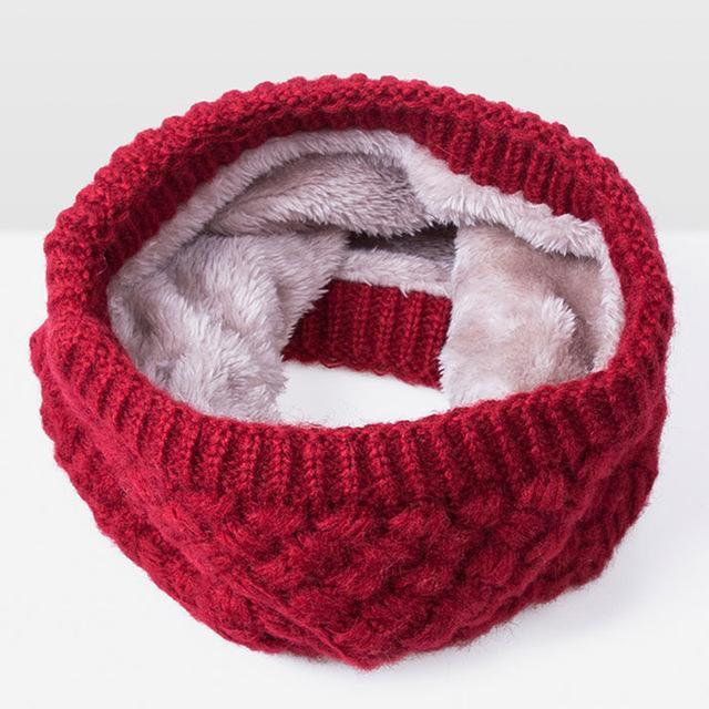 Hot Sales New Winter Scarf Children Women Scarf Warm Thickened Velvet Boys Girls Cotton Ring-Accessories-Dangerous Store-Red A-EpicWorldStore.com