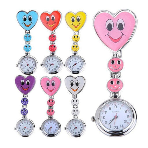 Hot Sales Nurse Pocket Watch Lovely Heart Smile Face With Medical Nurses Quartz Watches Lxh-Pocket & Fob Watches-Stylish 88 Store-Blue-EpicWorldStore.com