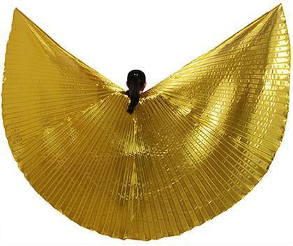 Hot Selling Shining Egyptian Belly Dancing Isis Wings 11 Colors Belly Dance Wings Without-Stage & Dance Wear-B U N Me Store-gold-EpicWorldStore.com