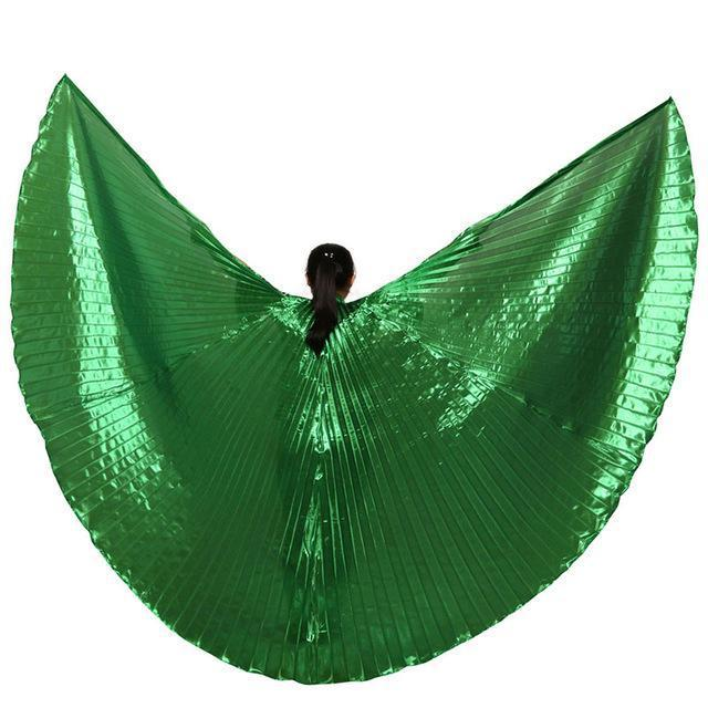 Hot Selling Shining Egyptian Belly Dancing Isis Wings 11 Colors Belly Dance Wings Without-Stage & Dance Wear-B U N Me Store-green-EpicWorldStore.com