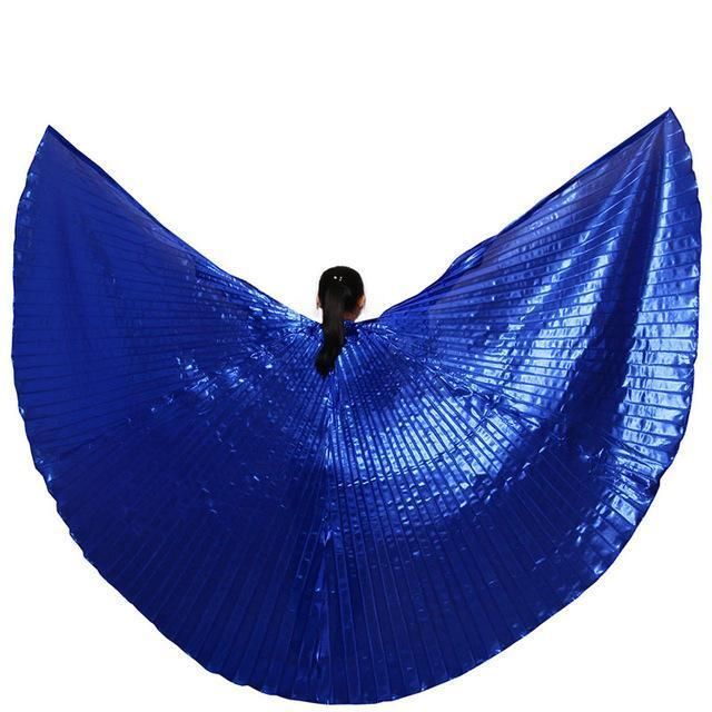 Hot Selling Shining Egyptian Belly Dancing Isis Wings 11 Colors Belly Dance Wings Without-Stage & Dance Wear-B U N Me Store-royal blue-EpicWorldStore.com