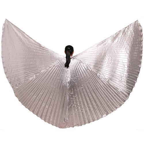 Hot Selling Shining Egyptian Belly Dancing Isis Wings 11 Colors Belly Dance Wings Without-Stage & Dance Wear-B U N Me Store-sliver-EpicWorldStore.com