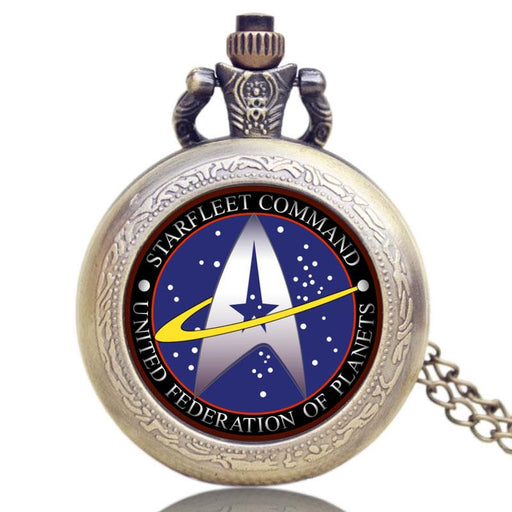 Hot Selling Style Star Trek Theme 3 Colors Pocket Watch With Necklace Chain High Quality Fob Watch-Pocket & Fob Watches-Guangzhou Shenxuan Trade Co.,Ltd.-A-EpicWorldStore.com