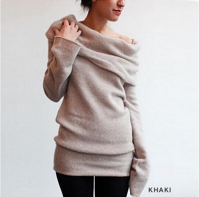 cc852db39c Hot Sweaters Knitted Pullover Sweater Women Sweater Jumper Women Sweaters  Pull Femme Winter Long-Sweaters