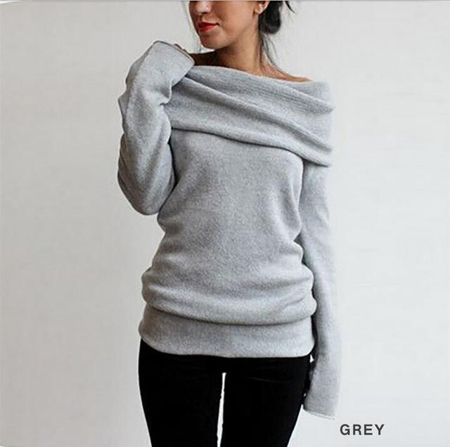 Hot Sweaters Knitted Pullover Sweater Women Sweater Jumper Women Sweaters Pull Femme Winter Long-Sweaters-golden diamond-b-S-EpicWorldStore.com