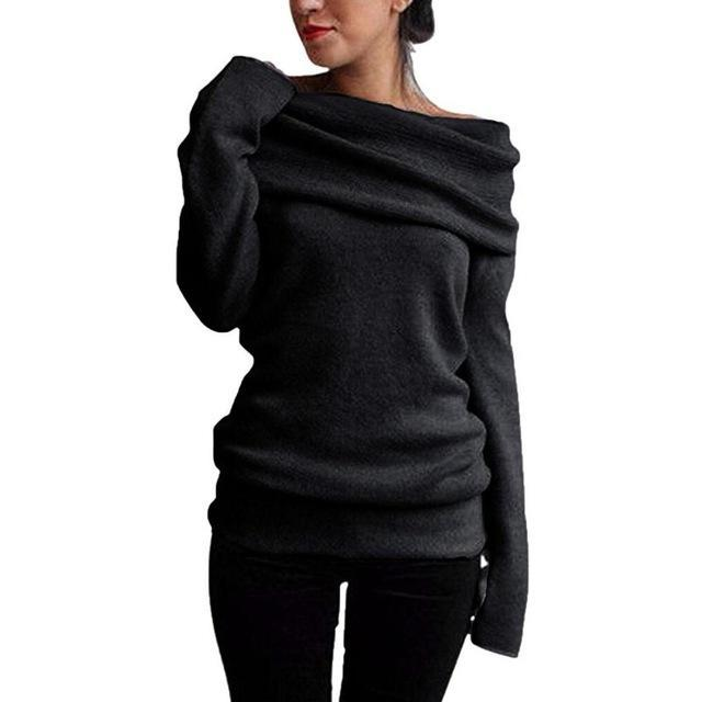 Hot Sweaters Knitted Pullover Sweater Women Sweater Jumper Women Sweaters Pull Femme Winter Long-Sweaters-golden diamond-e-S-EpicWorldStore.com