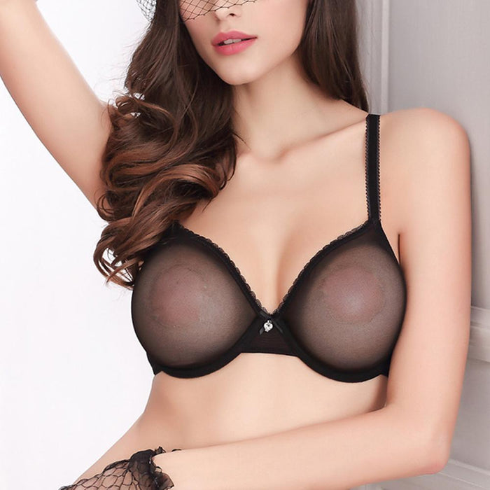 ba85586cc Hot Women Ultra Thin Bra Panty Sales Separated Set M L Xl Xxl Xxxl Stylish  Gauze Transparent