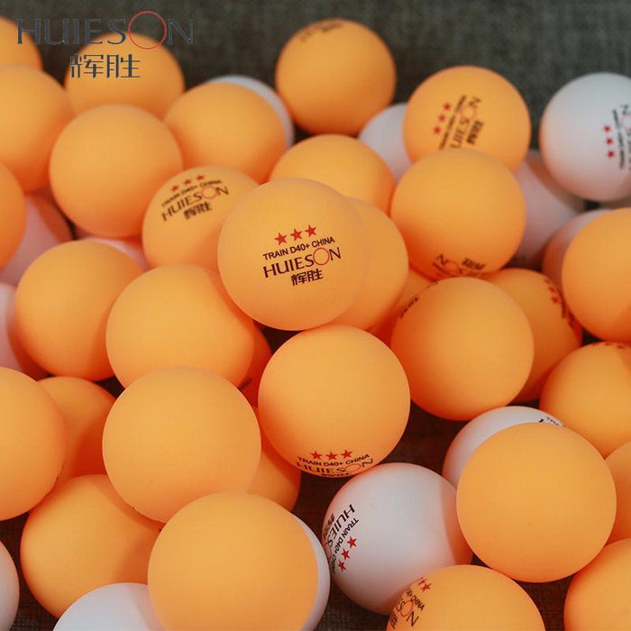 Huieson 50Pcs/Pack 3 Star New Material Table Tennis Balls 40+ Abs Plastic  Ping Pong Balls Table