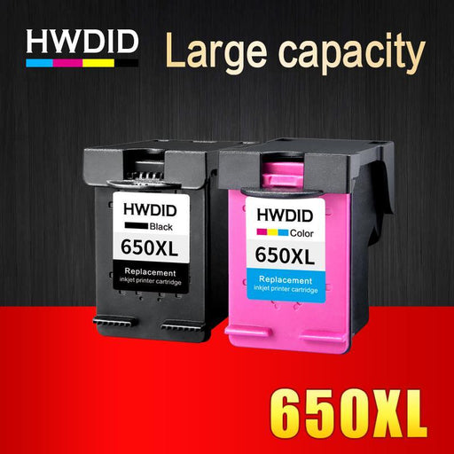 Hwdid 2Pack 650Xl Ink Cartridge Replacement For Hp 650 Xl Compatible For Hp Deskjet 1015 1515 2515-Office Electronics-HUIWEI Official Flagship Store-EpicWorldStore.com