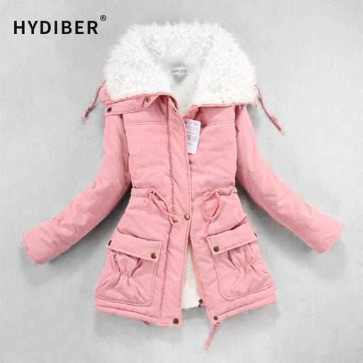 Hydiber New Winter Coat Women Slim Plus Size Outwear Medium-Long Wadded Jacket Thick Hooded-Jackets & Coats-Folks Beauty Co.,Ltd-Black-S-EpicWorldStore.com