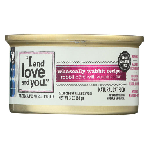 I And Love And You Canned Cat Food - Wabbit Pate - Case Of 24 - 3 Oz-Eco-Friendly Home & Grocery-I And Love And You-EpicWorldStore.com