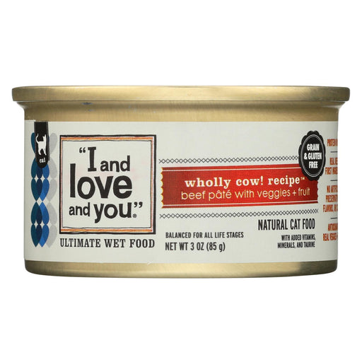 I And Love And You Wholly Cow - Wet Food - Case Of 24 - 3 Oz.-Eco-Friendly Home & Grocery-I And Love And You-EpicWorldStore.com