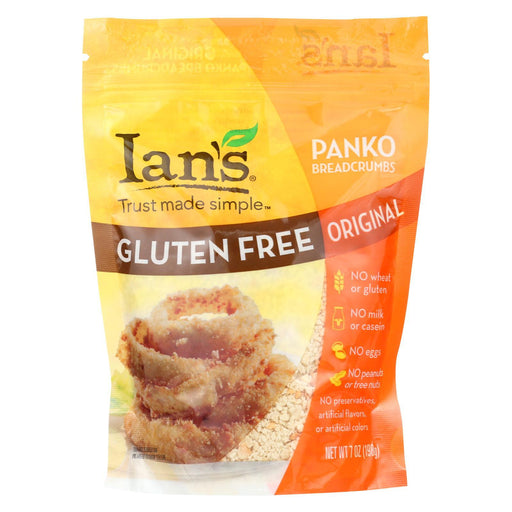 Ians Panko Breadcrumbs - Gluten Free - Case Of 8 - 7 Oz.-Eco-Friendly Home & Grocery-Ian's Natural Foods-EpicWorldStore.com