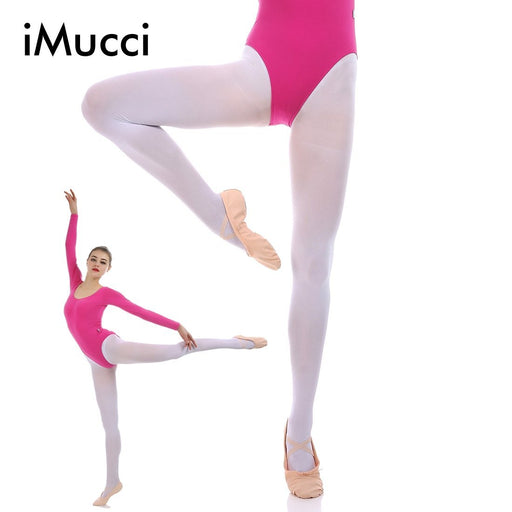 Imucci Professional Ballet Dance Tights Full Foot Velvet Adult Women Convertible Sock Girl Socks-Stage & Dance Wear-Sailing Trading(Wholesale/Drop-Shipping)-thin pink full foot-S-EpicWorldStore.com