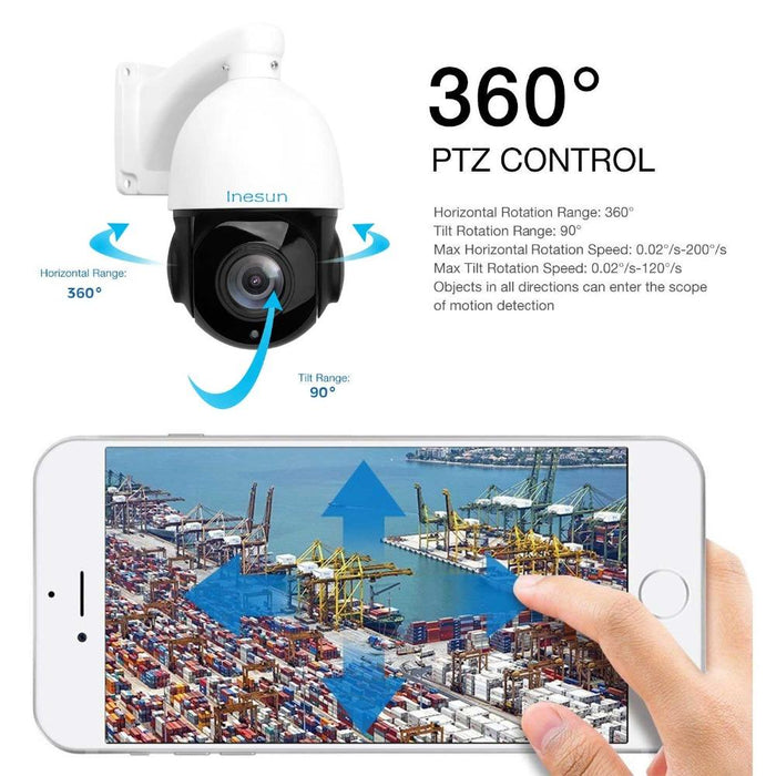 2a0a576780e Inesun 4 Inch Poe Ip Ptz Camera Super Hd 5Mp 2592X1944 30X Optical Zoom  Outdoor Waterproof