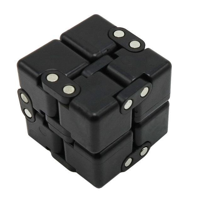 Infinite Magic Cube Creative Square Finger Fidget Cube Office Flip Cubic Puzzle Anti Stress Reliever-Stress Relief Toy-Sungpunet Store-BLACK-EpicWorldStore.com