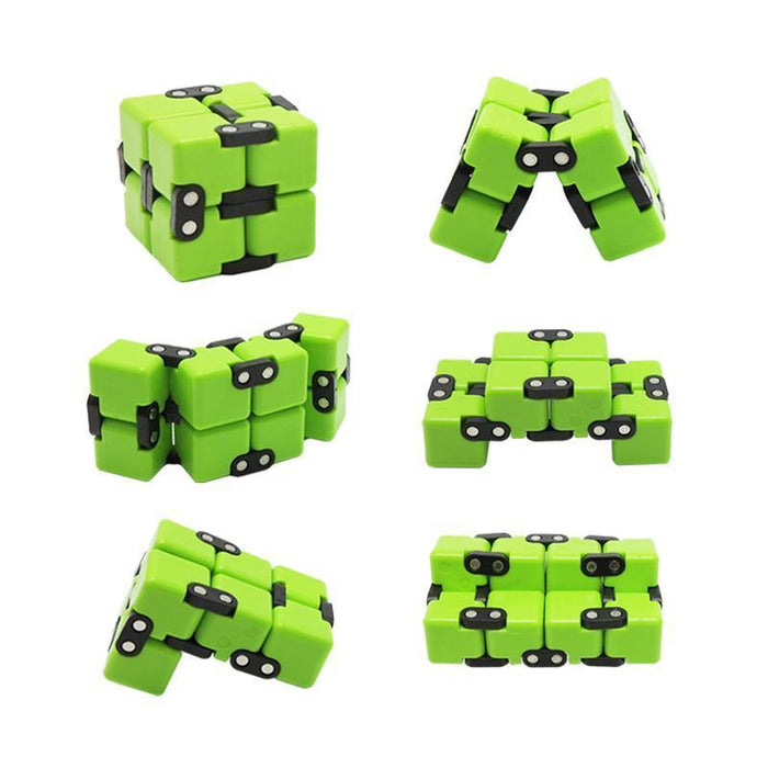 Infinite Magic Cube Creative Square Finger Fidget Cube Office Flip Cubic Puzzle Anti Stress Reliever-Stress Relief Toy-Sungpunet Store-GRAIN-EpicWorldStore.com