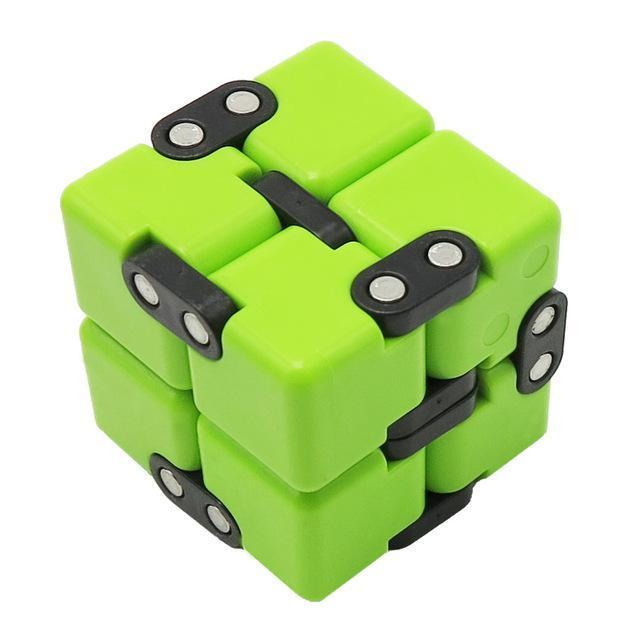 Infinite Magic Cube Creative Square Finger Fidget Cube Office Flip Cubic Puzzle Anti Stress Reliever-Stress Relief Toy-Sungpunet Store-GREEN-EpicWorldStore.com