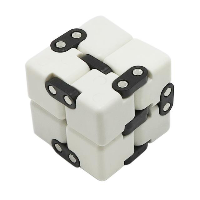 Infinite Magic Cube Creative Square Finger Fidget Cube Office Flip Cubic Puzzle Anti Stress Reliever-Stress Relief Toy-Sungpunet Store-WHITE-EpicWorldStore.com