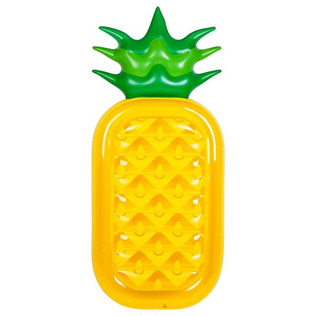Inflatable Pineapple Swimming Pool Float Raft Outdoor Large Inflatable Swim Float Lounge Pool Toys-Swimming Rings-Preeminent Outdoor Cycling Store-Yellow-EpicWorldStore.com