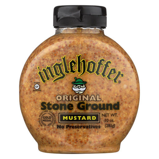 Inglehoffer - Mustard - Original Stone Ground - Case Of 6 - 10 Oz.-Eco-Friendly Home & Grocery-Inglehoffer-EpicWorldStore.com