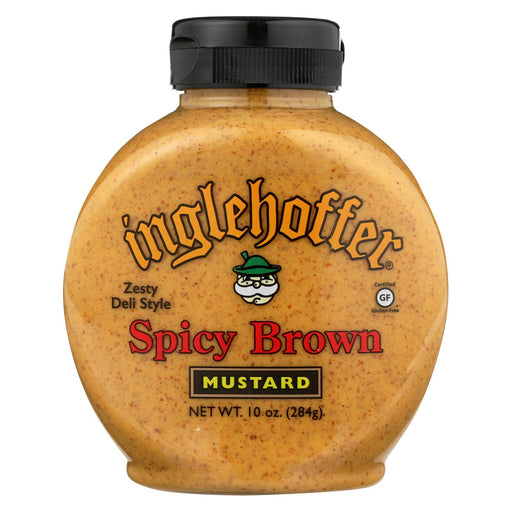 Inglehoffer - Mustard Spicy Brown Squeeze - Case Of 6 - 10 Oz-Eco-Friendly Home & Grocery-Inglehoffer-EpicWorldStore.com