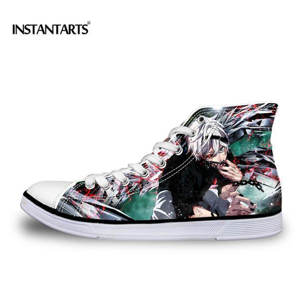 bbe22658 Instantarts Classic Men Women High Top Vulcanize Shoes Anime Attack ...