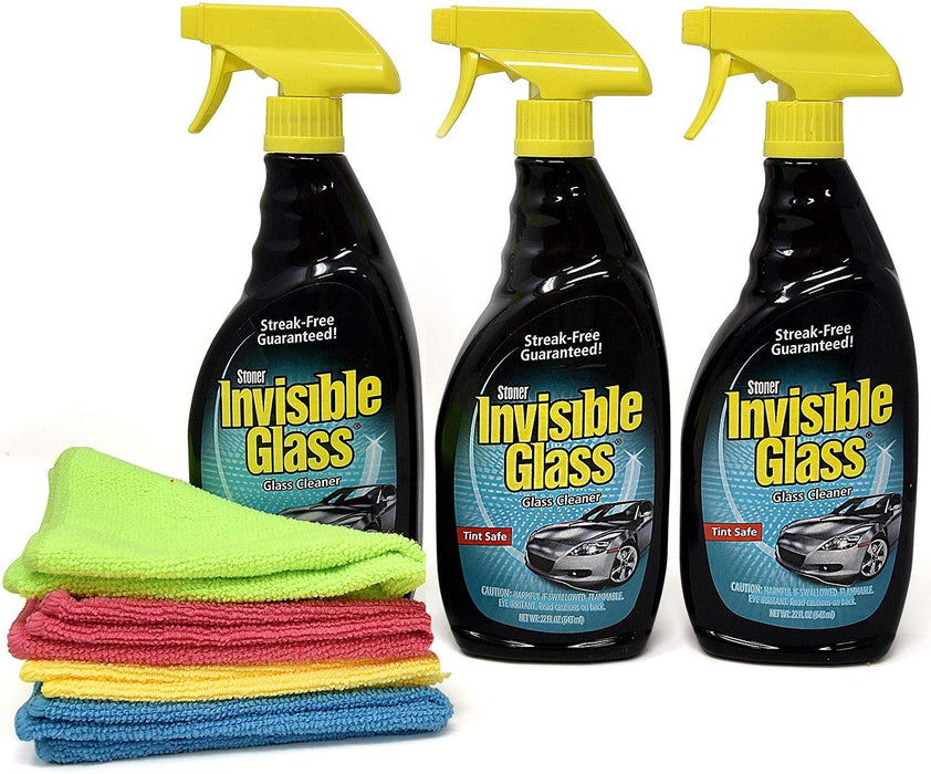 Invisible Glass Cleaner And Window Spray 3 Pack With 4 Microfiber Cloths-Home Essentials-Amazon-3 Pack-EpicWorldStore.com