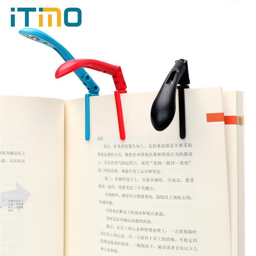 Itimo Clip-On Book Reading Lamp With Battery Folding Led Book Lights For Reader Kindle Adjustable-Book Lights-iTimo LedLight Store-Black-EpicWorldStore.com