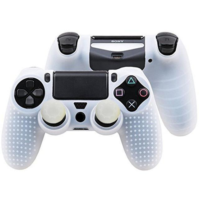 Ivyueen 2 In 1 Studded Anti-Slip Silicone Rubber Cover Skin Case For Sony  Playstation 4 Ps4 Ds4
