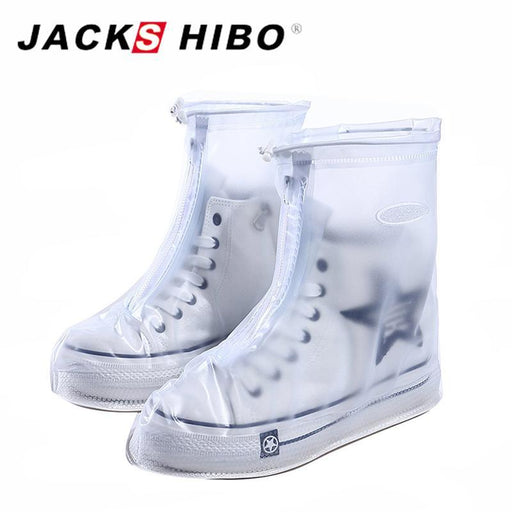 Jackshibo Reusable Waterproof Overshoes Shoe Covers Shoes Protector Men&Womens&Children Rain-Shoe Accessories-Jackshibo Official Store-White-S-EpicWorldStore.com