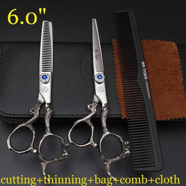 Japan 5.5 6.0 Hot Professional Hairdressing Scissors Hair Cutting Scissors  Barber Shears Set