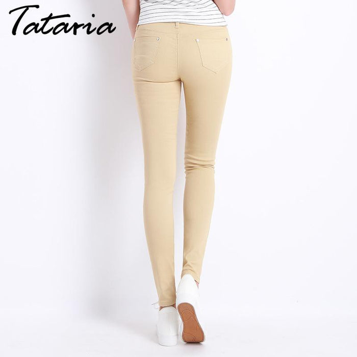 Jeans Female Denim Pants Candy Color Womens Jeans Donna Stretch Bottoms Feminino Skinny Pants For-Bottoms-Tataria Speciallity Store-Black-25-EpicWorldStore.com